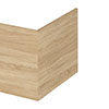 Hudson Reed Natural Oak 700 Square Shower Bath End Panel - OFF379 profile small image view 1