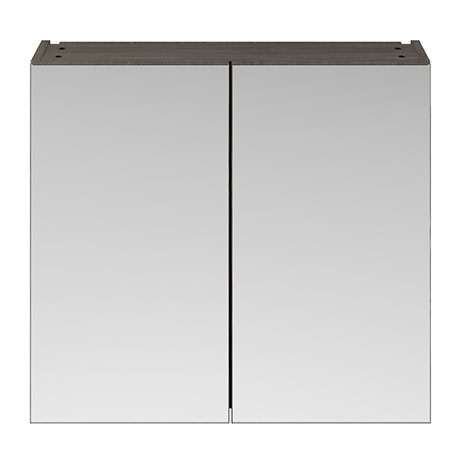 Brooklyn 800mm Grey Avola Bathroom Mirror Cabinet - 2 Door