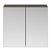 Brooklyn 800mm Grey Avola Bathroom Mirror Cabinet - 2 Door profile small image view 1