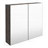 Brooklyn 800mm Grey Avola Bathroom Mirror Cabinet - 2 Door profile small image view 1