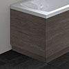 Hudson Reed Grey Avola 750 End Straight Bath Panel - OFF571 profile small image view 1