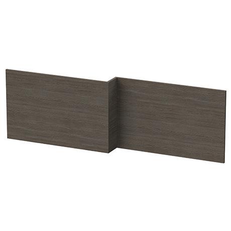 Hudson Reed Grey Avola 1700 Square Shower Bath Front Panel - OFF573