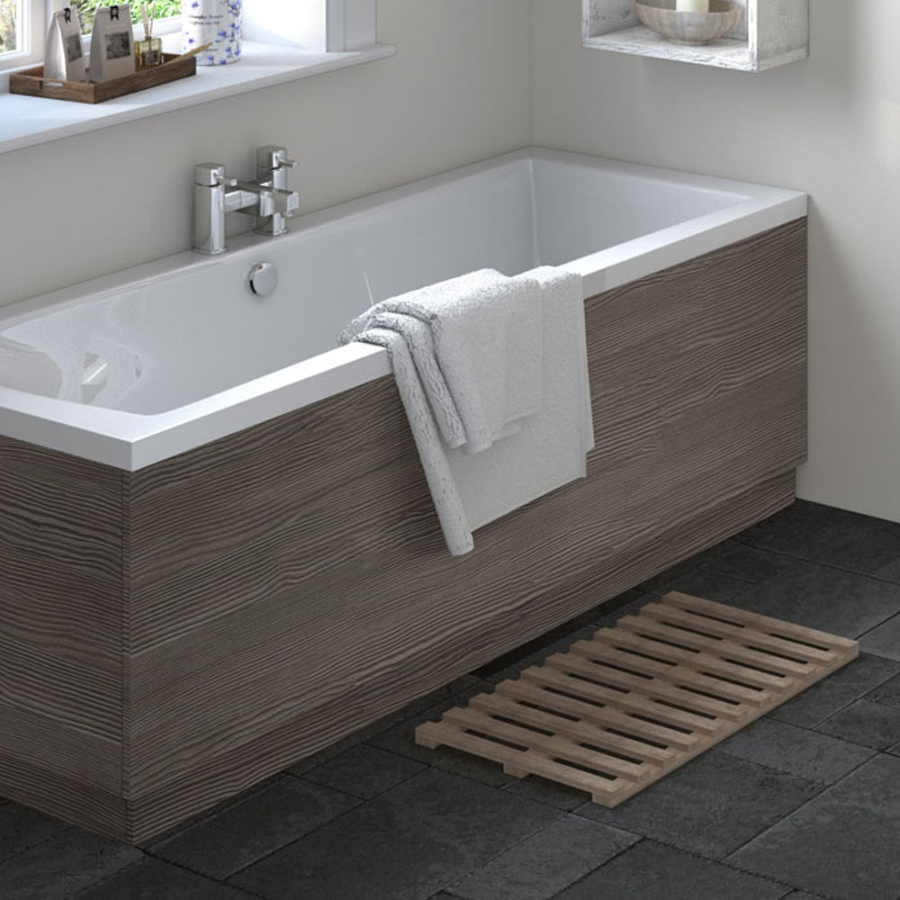 Hudson Reed Grey Avola 1700 Front Straight Bath Panel