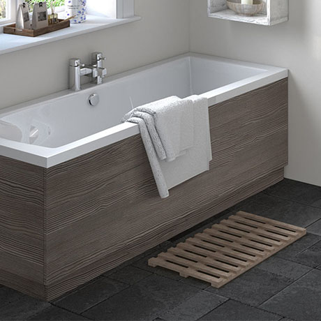 Hudson Reed Grey Avola 1700 Front Straight Bath Panel - OFF577