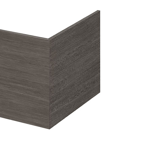 Hudson Reed Grey Avola 700 Square Shower Bath End Panel - OFF579