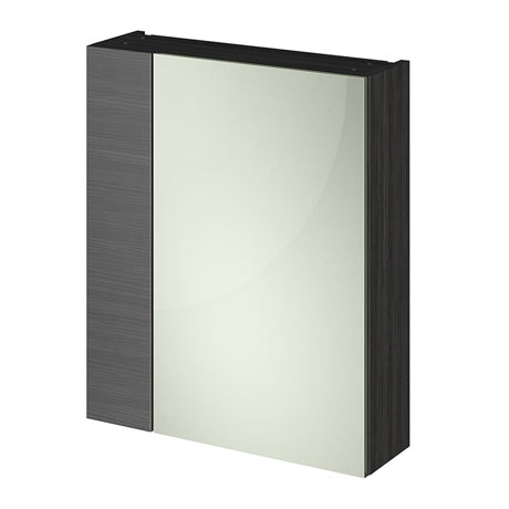 Hudson Reed 600mm Hacienda Black 75/25 Mirror Unit