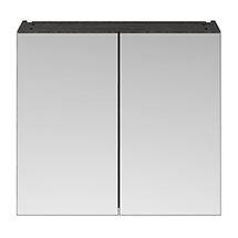 Brooklyn 800mm Bathroom Mirror Cabinet - 2 Door - Hacienda Black Medium Image