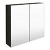 Brooklyn 800mm Hacienda Black Bathroom Mirror Cabinet - 2 Door profile small image view 1