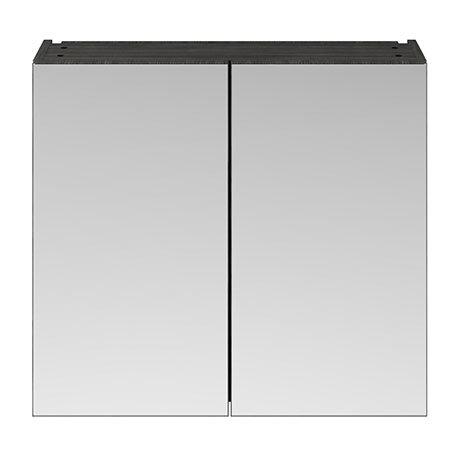 Brooklyn 800mm Bathroom Mirror Cabinet - 2 Door - Hacienda Black