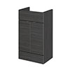 Hudson Reed 500x355mm Hacienda Black Full Depth Drawer Line Unit profile small image view 1