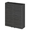 Hudson Reed Hacienda Black 500mm Wall Unit - OFF655 profile small image view 1