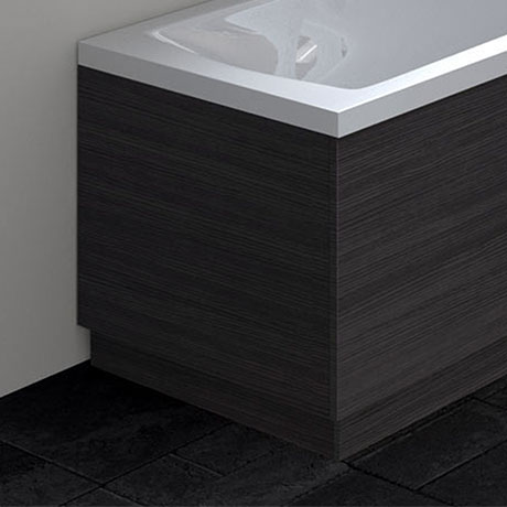 Hudson Reed Hacienda Black 700 End Straight Bath Panel - OFF670