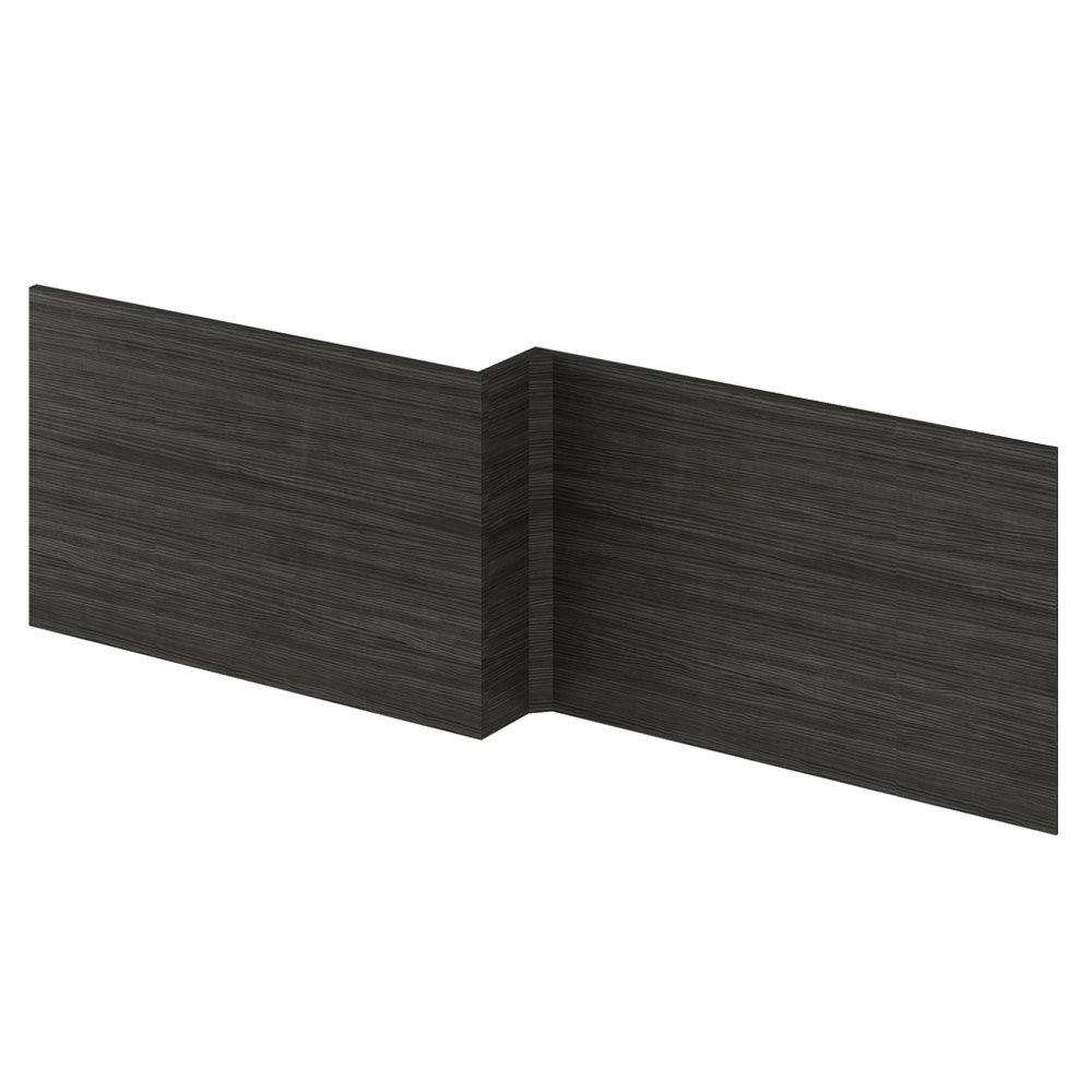 Hudson Reed Hacienda Black 1700 Square Shower Bath Front Panel - OFF673