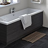 Hudson Reed Hacienda Black 1700 Front Straight Bath Panel - OFF677 profile small image view 1