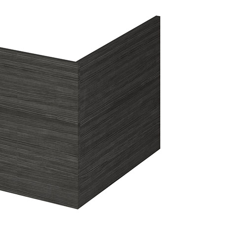 Hudson Reed Hacienda Black 700 Square Shower Bath End Panel - OFF679