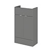 Hudson Reed 500x255mm Gloss Grey Compact Vanity Unit Medium Image