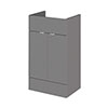 Hudson Reed 500x355mm Gloss Grey Full Depth Vanity Unit profile small image view 1