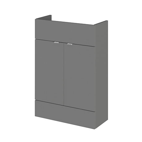 Hudson Reed 600x255mm Gloss Grey Compact Vanity Unit