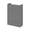 Hudson Reed 600x255mm Gloss Grey Compact Vanity Unit profile small image view 1