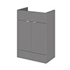 Hudson Reed 600x355mm Gloss Grey Full Depth Vanity Unit profile small image view 1
