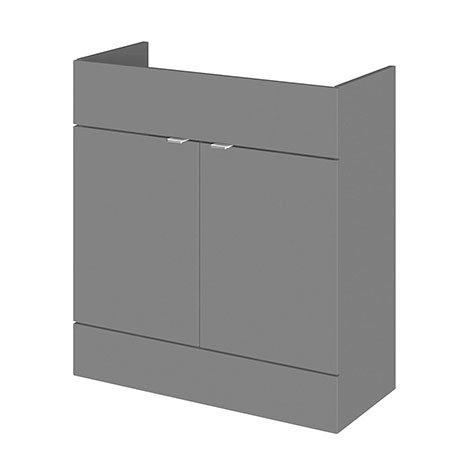 Hudson Reed 800x355mm Gloss Grey Full Depth Vanity Unit