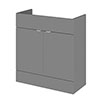 Hudson Reed 800x355mm Gloss Grey Full Depth Vanity Unit profile small image view 1