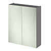 Hudson Reed 600mm Grey Gloss 50/50 Mirror Unit Medium Image