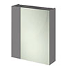 Hudson Reed 600mm Gloss Grey 75/25 Mirror Unit Medium Image