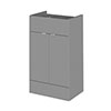 Hudson Reed 500x355mm Gloss Grey Full Depth Drawer Line Unit profile small image view 1