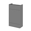 Hudson Reed 500x255mm Gloss Grey Compact WC Unit Medium Image