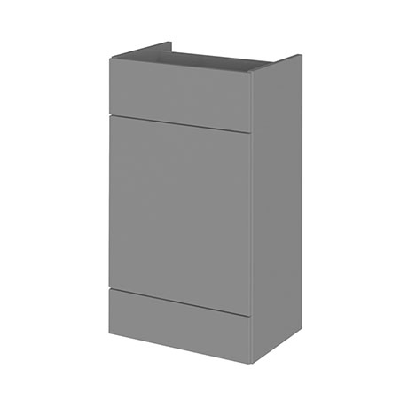 Hudson Reed 500x355mm Gloss Grey Full Depth WC Unit