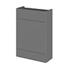Hudson Reed 600x255mm Gloss Grey Compact WC Unit Medium Image