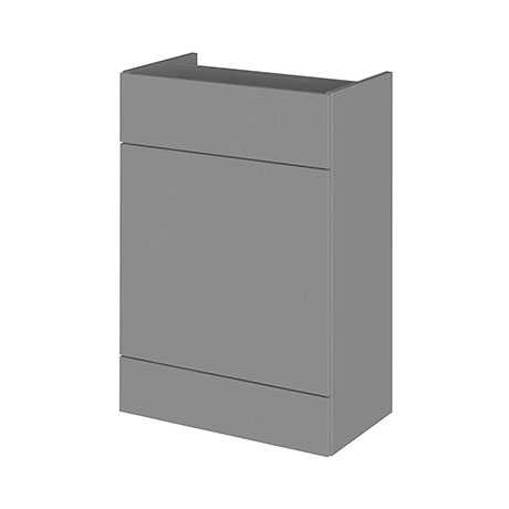 Hudson Reed 600x355mm Gloss Grey Full Depth WC Unit