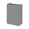 Hudson Reed 600x355mm Gloss Grey Full Depth WC Unit profile small image view 1