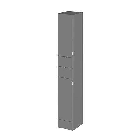 Hudson Reed 300x355mm Tall Gloss Grey Full Depth Tower Unit