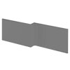 Hudson Reed Gloss Grey 1700 Square Shower Bath Front Panel - OFF973 profile small image view 1