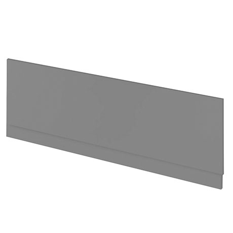 Hudson Reed Gloss Grey 1700 Front Straight Bath Panel - OFF977