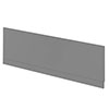 Hudson Reed Gloss Grey 1700 Front Straight Bath Panel - OFF977 profile small image view 1