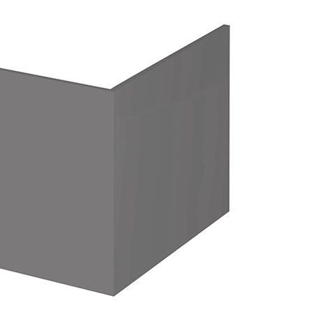 Hudson Reed Gloss Grey 700 Square Shower Bath End Panel - OFF979