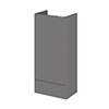 Hudson Reed 400x255mm Gloss Grey Compact Base Unit Medium Image