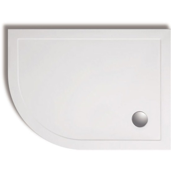 Zamori - 35mm Offset Quadrant Shower Tray - Left Hand profile large image view 1
