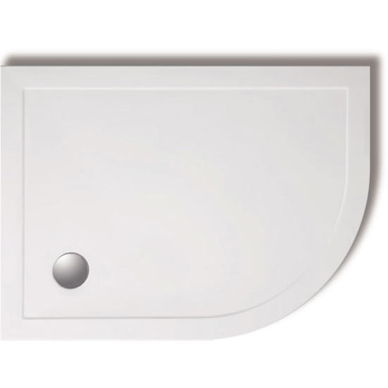 Zamori - 35mm Offset Quadrant Shower Tray - Right Hand profile large image view 1
