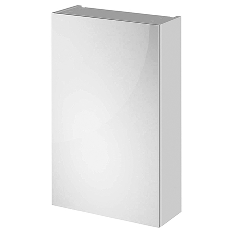 Fusion 450 Gloss Grey Mist Bathroom Mirror Unit
