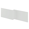 Nuie Athena 1700 Grey Mist L-Shaped Front Bath Panel profile small image view 1