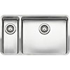 Reginox Ohio 50x40+18x40 1.5 Bowl Stainless Steel Kitchen Sink - Right Hand Main Bowl profile small image view 1