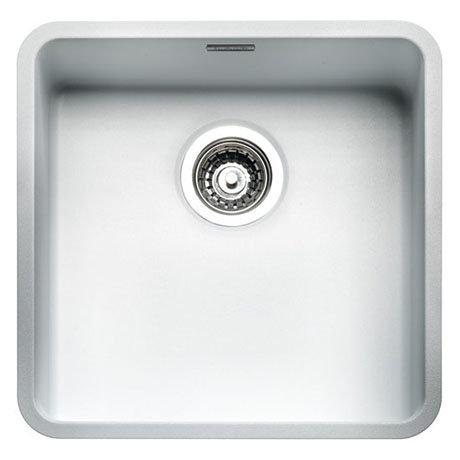 Reginox Ohio 40x40 1.0 Bowl Stainless Steel Kitchen Sink - White