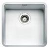 Reginox Ohio 40x40 1.0 Bowl Stainless Steel Kitchen Sink - White profile small image view 1