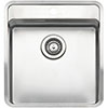 Reginox Ohio 40x40 1.0 Bowl Stainless Steel Kitchen Sink with Tap Ledge profile small image view 1
