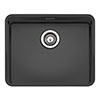 Reginox Ohio 50x40 1.0 Bowl Stainless Steel Kitchen Sink - Black profile small image view 1