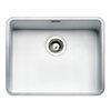 Reginox Ohio 50x40 1.0 Bowl Stainless Steel Kitchen Sink - White profile small image view 1